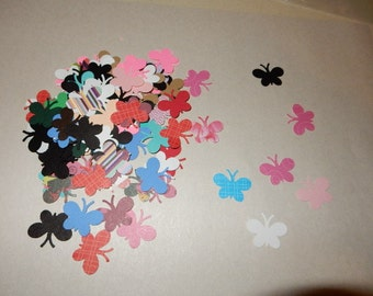 Paper Die Cuts: Confetti Butterflies in assorted colors - 100 pieces