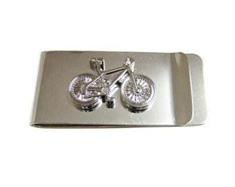 Silver Toned Bicycle Money Clip