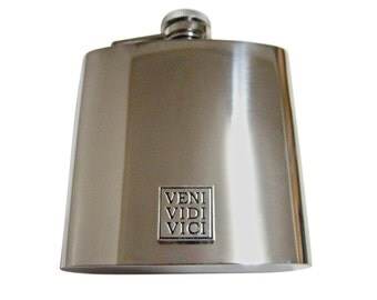 Veni Vidi Vici 6 oz. Stainless Steel Flask