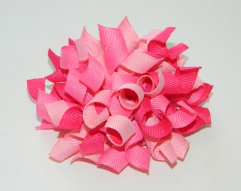 Multi Pink Korker Hair Bow