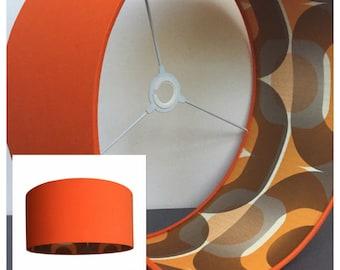 Retro 60s 70s Style Orange Lampshade Lightshade Various Sizes