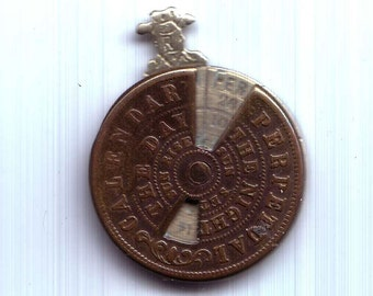 Antique Perpetual Calendar Moving Parts Hard To Find
