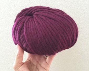 200g ball of Peruvian wool in Merlot