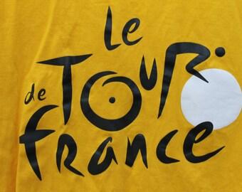 Le Tour De France T-shirt Vintage Yellow T-shirt Unisex Clothes XLarge Shirt Athletic Cotton Shirts VintageTops French Souvenir Cycling Race