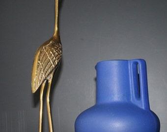 West Germany Fat Lava Vase Mad Men Decor Mid Century Modern Blue Vase Eames Home Living Room Vintage Ceramics Pot Ewer Blue Jug Accents Mod