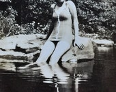 Original Vintage Photograph Joan's Reflection 1946