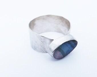 boulder opal ring/opal ring/silver ring