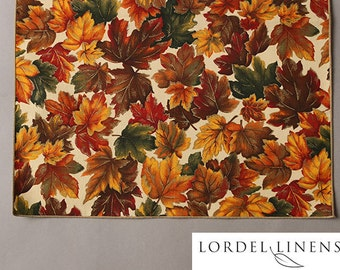 "Fall Leaves Table Runner, Small 36"" Table Runner, Table Linens, Home Decor"