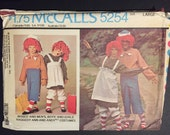 McCall's Sewing Pattern 70s Raggedy Ann and Andy Costume Size 10-12