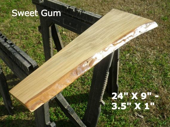 Live edge sweet gum finished wood slab diy by hurricanemilling for Finished wood slabs