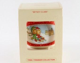 Vtg 1980 Betsey Clark Hallmark Holiday Ornament Satin Ball