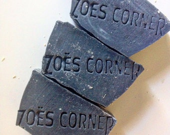 Soap - Activated Charcoal -100 % Natural Handmade Cold Process Soap Savon From Scratch- SLS and Paraben Free