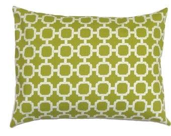 GREEN PILLOW.12x16 or 12x18 inch.Pillow.Decorative Pillows.Lumbar Pillow Cover.Housewares.Green Outdoor.Indoor.Outdoor.Pillow.Cushion.Cm