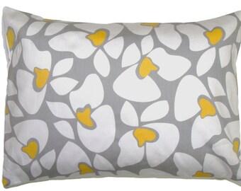 PILLOW.GRAY PILLOW.12x16 or 12x18 inch.Pillows.Pillows.Lumbar Pillow Cover.Decorative Pillows.Housewares.Yellow.Grey.Cushion Cover.Floral.cm