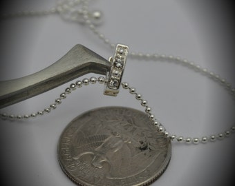 Genuine Silver Plated Swarovski Crystal Ball Necklace