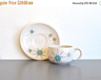 ON SALE Starburst Saucer and Tea Cup | Mid Century Franciscan Ware