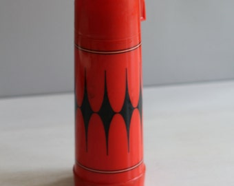 Vintage red Aladdin Vanguard harlequin thermos