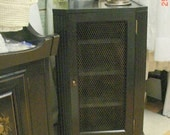 RESERVED for Seng - Cabinet Chickenwire Black FREE SHIPPING Vintage Prairie Farmhouse