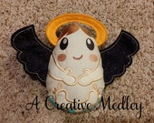 Peekaboo Angel Baby In the Hoop Stuffed Softie - Reversible folds into an egg, ITH, IN The Hoop, Embroidery Design, Instant download