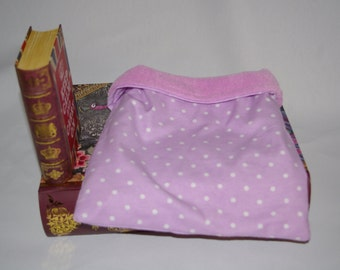 Purple and White Dot Flannel with Lilac Fleece Snuggle Bag