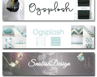 Custom Etsy Shop Banner and Avatar Package Set OOAK - (Or Facebook Timeline Banner) cover banner