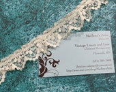 1 yard of 1 inch Ivory Ruffled Chantilly lace trim for bridal, baby, wedding, garter, crafts by MarlenesAttic - Item 2L