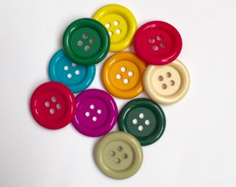Favorite Findings Buttons, Blumenthal Lansing Buttons, Lot of Buttons, Set of 8 Large Buttons, Funky Buttons, Large Decorative Buttons
