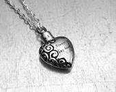 Cremation Necklace, Heart Urn, Urn Locket, Ashes Holder Necklace, Cremation Locket, Memory Locket, Cremation Jewelry, Heart Locket