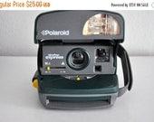 ON SALE Vintage Polaroid 600 OneStep Green Camera Tested /Works