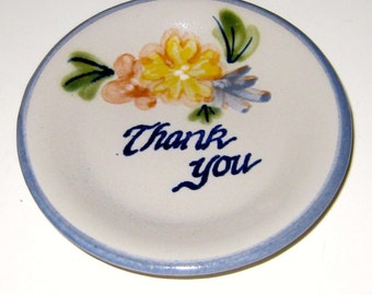 Adorable Thank You Host Hostess Gift Dish Louisville Stoneware