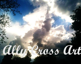"""Fine Art """"Stormy Skies"""" Cloud Photography Print by Ally Cross"""