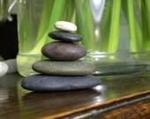 Lovely Beach Stone Stack 5 Natural Ocean Rocks Zen Stones Zen Garden Sculpture Fountain Yoga Meditation Gift Wedding Home Decor Balance Sea