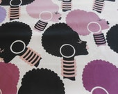 Electra Deleon Design Group - Purple, Black, White Alexander Henry Fabric 1 Yard