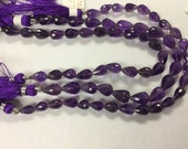 Purple Amethyst  Straight Drill Drops Faceted