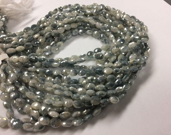 Coated Silverite Ovals Faceted
