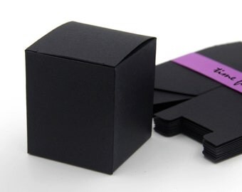 Set of 10, Black Post Card Gift Box, Favor, Gift, Party