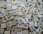 Large Lot ~ 200 Scrabble Wood Tiles ~ Vintage Supplies ~ Replacement Parts ~ Game Pieces