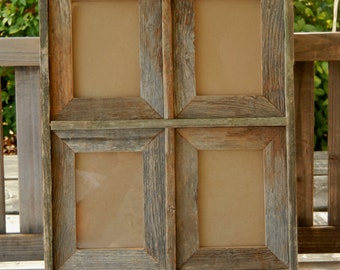 4 panel 5x7 OR 4x6 barnwood frame