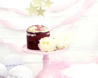 Glitter Star Cake Topper Set