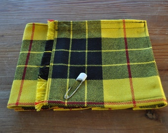 Baby Kilt, 0-6m in Macleod Dress tartan, 100% 10oz Pure New Wool, Handmade in Scotland.