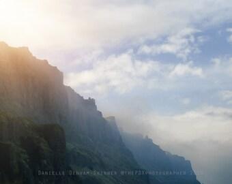 Landscape Photography | Hazy Sunlight | Columbia River Gorge | Nature Photo | Oregon | Rural Oregon Photo