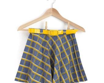 Girls Skirt, Girls Vintage Skirt, Back to School Skirt, Girls Mini Skirt, Girls Retro Skirt,