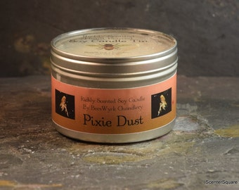 Soy Candle Tin - 8 oz in Pixie Dust Scent