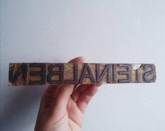 SALE Vintage wood office rubber stamp