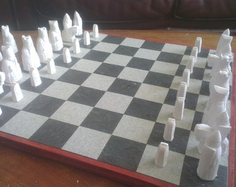 Large Isle of Lewis Chess Set Project - Ready To Paint/Finish Yourself