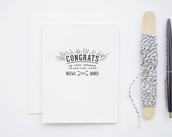 Congratulations New Baby Card - Brews to Babies