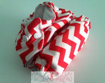 Red Chevron - Newborn Diaper - Newborn Cloth Diaper - Newborn Nappie - Baby Shower Gift - New Mom Gift - AIO Diaper - First Baby Gift