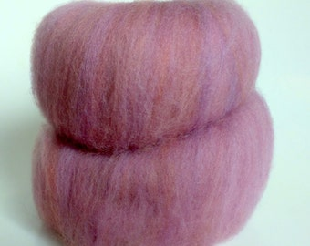 1.6 oz Batt Handpainted  Polwarth spinning fiber
