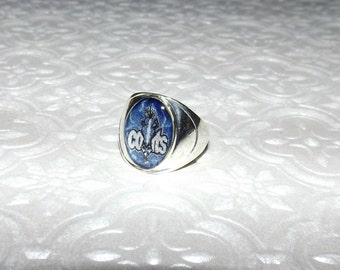 Indianapolis Colts Inspired Marble Ring