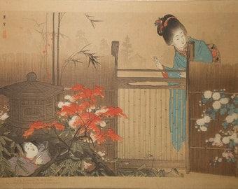 Vintage woodblock print h.matsuki number two
